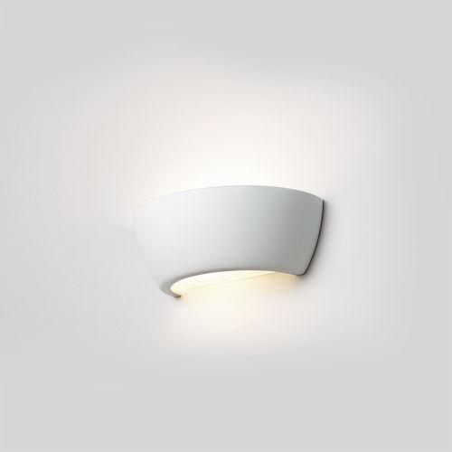 contemporary wall light / ceramic / curved