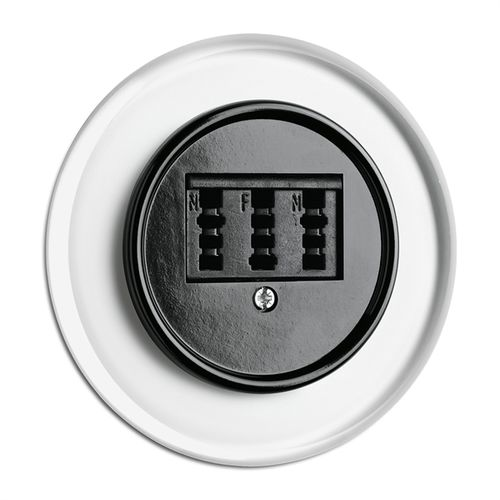 data socket / telephone / triple / wall-mounted