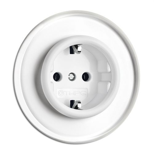 power socket / wall-mounted / Duroplast / traditional