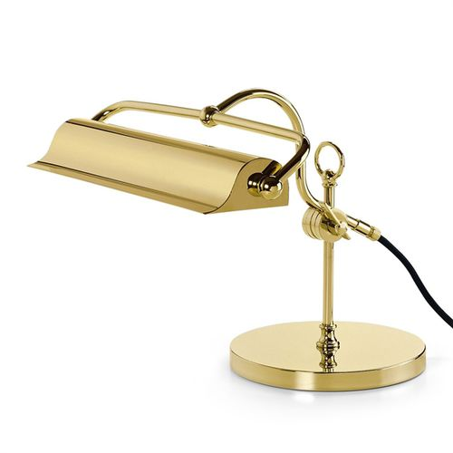 table lamp / traditional / brass / golden
