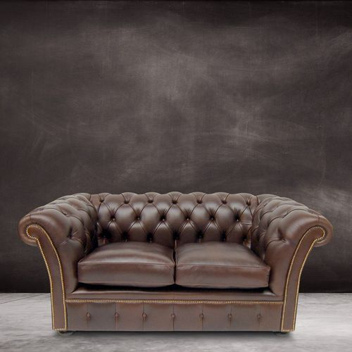 Chesterfield sofa / leather / 2-person / 2.5-seater
