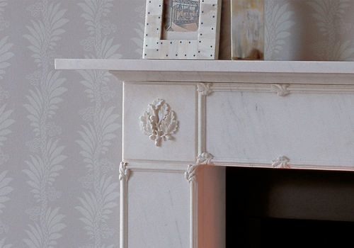 Traditional fireplace mantel / marble THE EBURY by Jane Churchill Chesney
