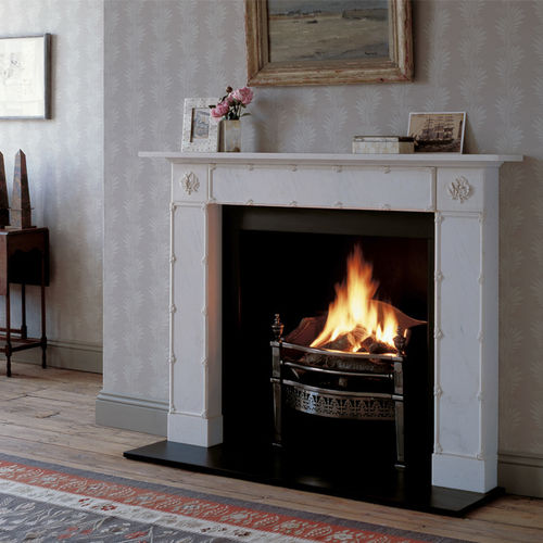 Traditional fireplace mantel / marble / 1-sided THE EBURY by Jane Churchill Chesney