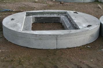 concrete manhole cover / round