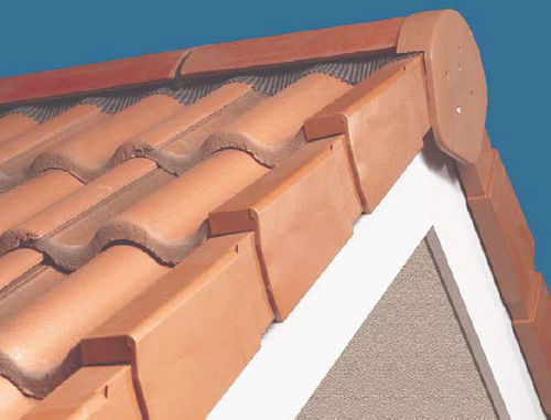 french roof tile / edge