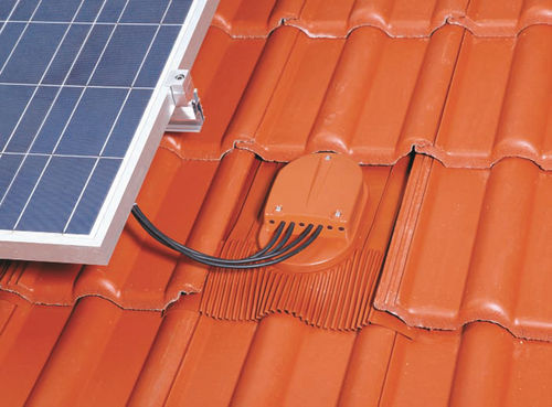 tiled roof mounting system / aerodynamic / for photovoltaic installations