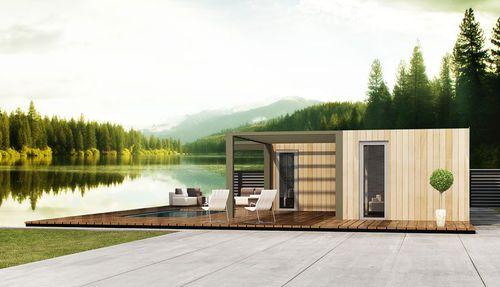 prefab house / modular / trailerable / contemporary
