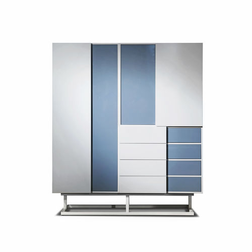 modular wardrobe / contemporary / MDF / metal