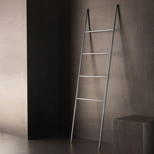 ladder towel rack / floor-standing / stainless steel