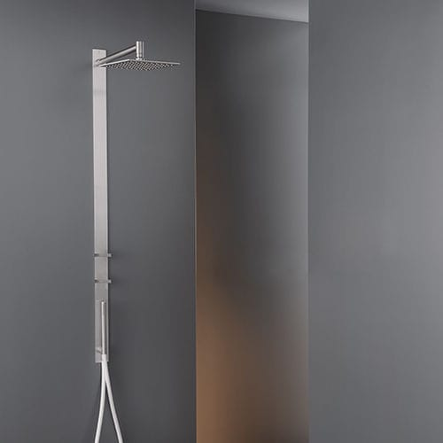 Wall-mounted shower set / contemporary / with hand shower / with adjustable shower head BAR02 by Natalino Malasorti CEADESIGN