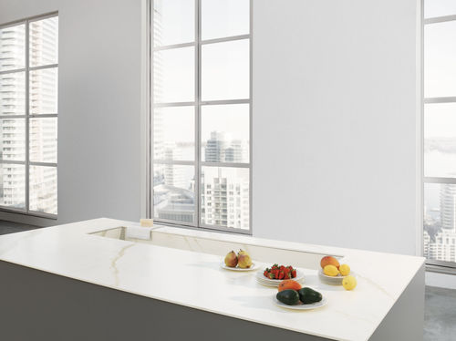 Ceramic work surface / outdoor / indoor / wear-resistant CAVA: CALACATTA ORO VENATO SOFT TOUCH LAMINAM