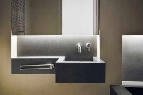 Ceramic vanity top / commercial by Daniele Petteno Architecture Workshop LAMINAM