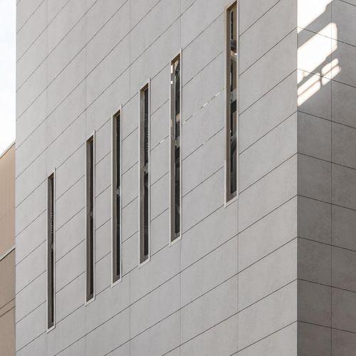 Ventilated facade cladding / ceramic / polished / panel BLEND LAMINAM