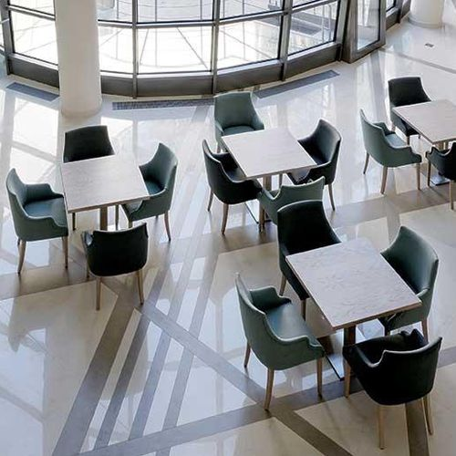ceramic table top / heat-resistant / stain-proof / wear-resistant