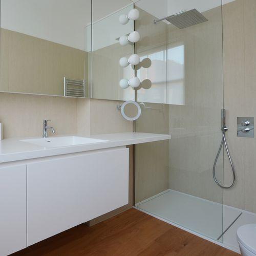 Wood fiber wallcovering / residential / high-gloss / marble look MARMI: TRAVERTINO AVORIO LAMINAM