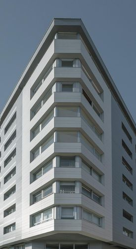 Ceramic cladding / smooth / sheet / for ventilated facades COLLECTION: PERLA LAMINAM