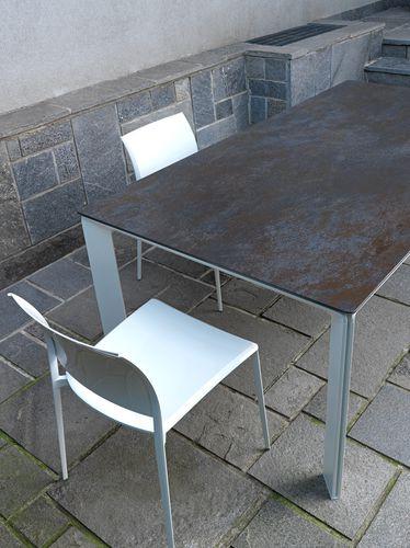 Furniture decorative panel / ceramic / 3D effect / metal look OXIDE: MORO LAMINAM