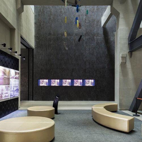 Commercial wallcovering / matte / 3D effect / metal look OXIDE: NERO LAMINAM