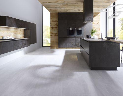 Interior fitting decorative panel / for kitchens / ceramic / 3D effect OXIDE: NERO LAMINAM