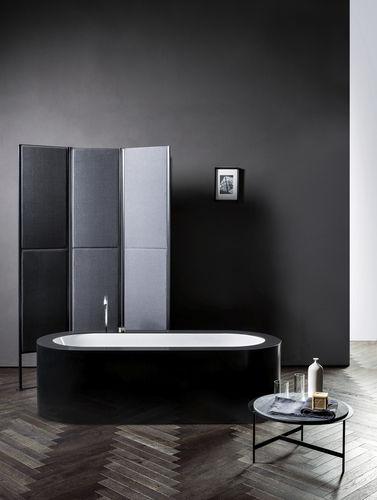 Oval bathtub / acrylic / expanded polystyrene / chromotherapy LOOK MAKRO