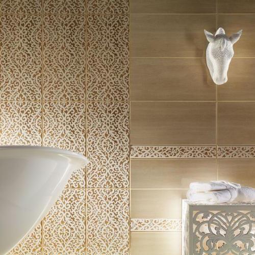 Bathroom tile / wall / porcelain stoneware / patterned - ILMA - TUBADZIN