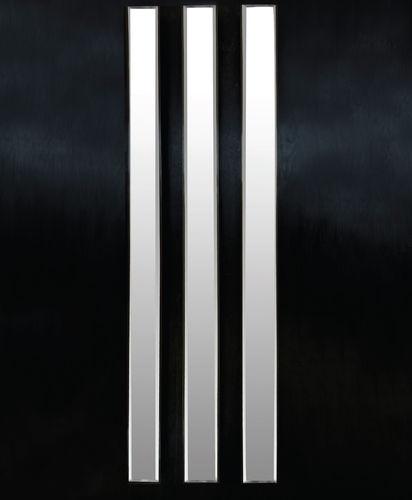 wall-mounted mirror / contemporary / rectangular / iron