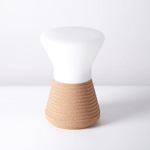 floor-standing lamp / original design / glass / cork