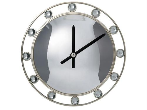 Contemporary clock / analog / wall-mounted / stainless steel APOLLO VILLIERS