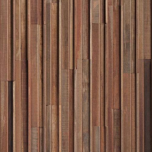 wall-mounted paneling / wooden / in reclaimed material