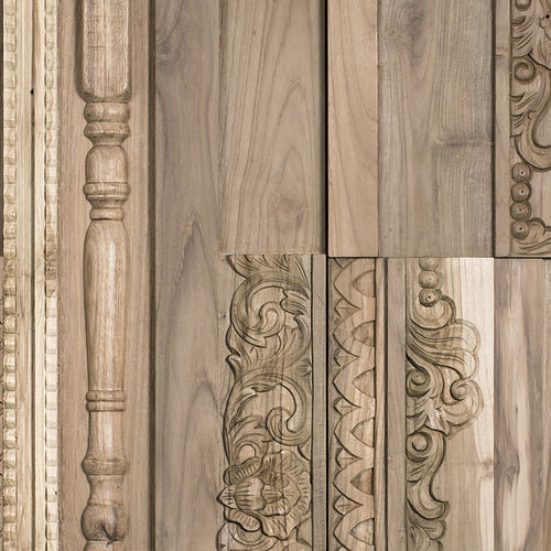wood decorative panel / for doors / for facades / for interior