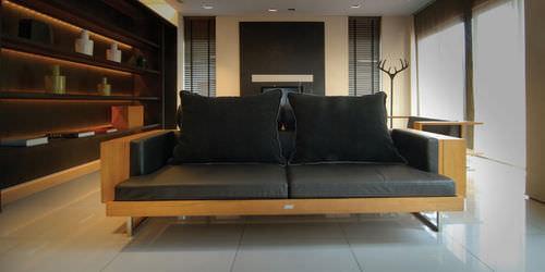 floor coat rack / original design / teak
