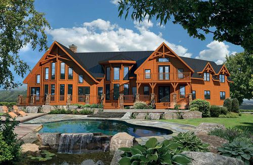 Prefab house / log / traditional / timber frame house CLASSIC : AVALANCHE TIMBER BLOCK