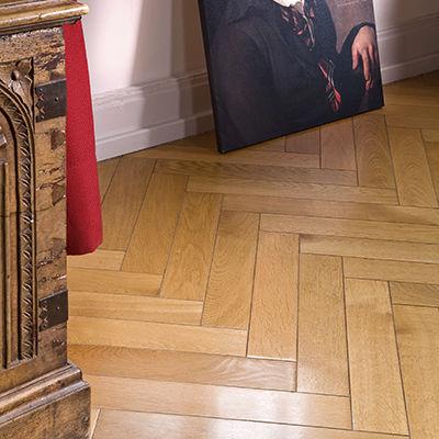engineered parquet floor / solid / glued / oak