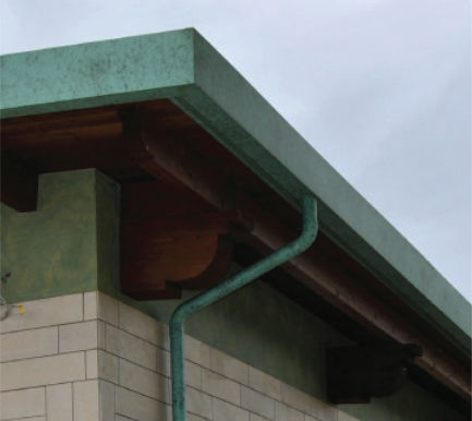 aluminum sheet metal / for roof gutters / special