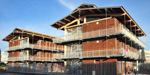 prefab building / wooden / for housing developments / contemporary