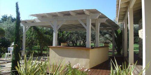 patio canopy / wooden / precast
