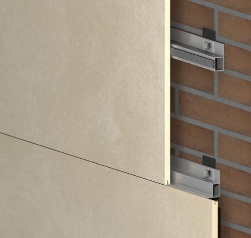 Metal fastening system / for facade claddings / interior GR-INT SISTEMA MASA SL
