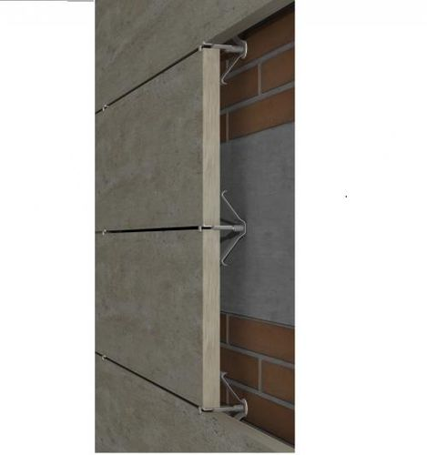 Metal fastening system / stainless steel / for facade cladding / for ventilated facades GR-ESP-PI SISTEMA MASA SL