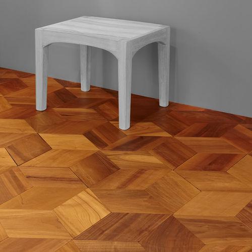 solid parquet floor / floating / oak / walnut