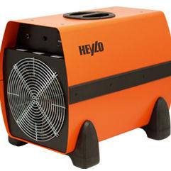 electric air heater / floor / heavy-duty / mobile