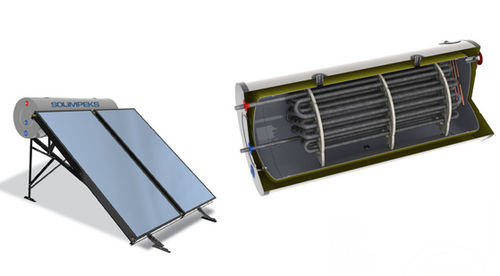 solar water heater / fixed / horizontal / thermosiphon
