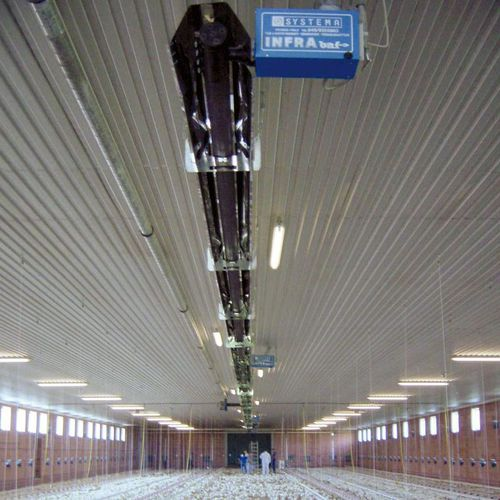 hanging infrared heater / gas / commercial / radiant tube