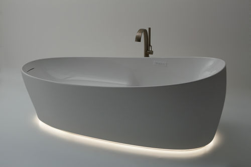 free-standing bathtub / oval / composite / deep