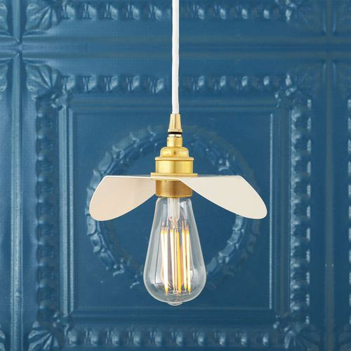 pendant lamp / traditional / steel / polished brass