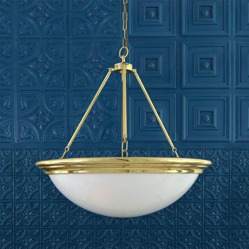 traditional chandelier / glass / polished brass / acrylic glass