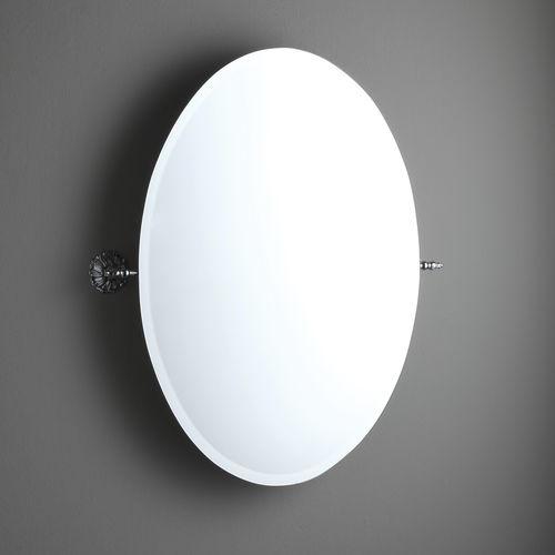 wall mounted bathroom mirror tilting classic oval ab209