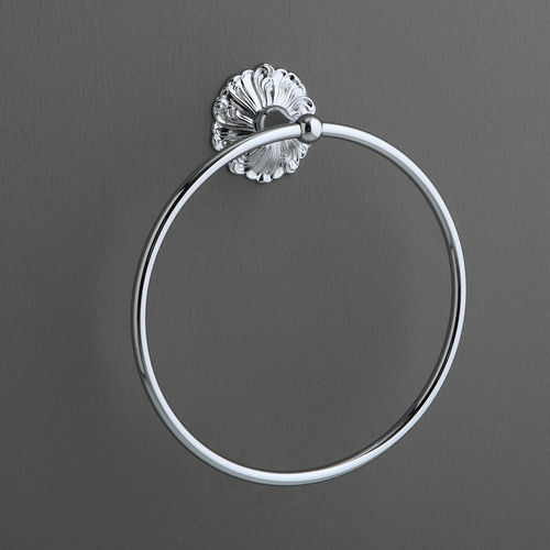 towel ring / wall-mounted / chrome-plated brass
