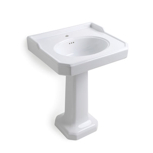 free-standing washbasin / oval / ceramic / traditional