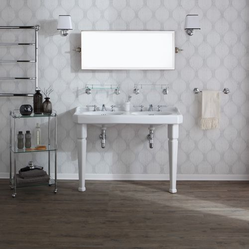 Double washbasin / free-standing / rectangular / ceramic BP7120 BLEU PROVENCE