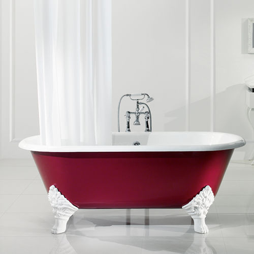 Bathtub with legs / oval / cast iron 3080 BLEU PROVENCE